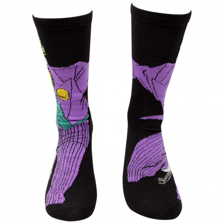 Joker Character and J Logo Men's 2-Pack Crew Socks