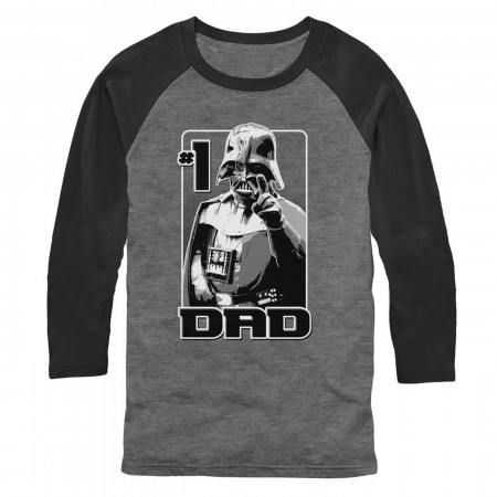 Vader Number One Dad 3/4 Sleeve Baseball T-Shirt
