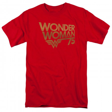 Wonder Woman 75 Red and Gold T-Shirt