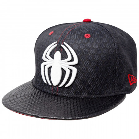 b80b3221 Spider-Man Stealth Suit Fly Weave Armor New Era 9Fifty Adjustable Hat