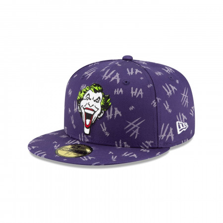 Joker Purple All Over HAHA 59Fifty Fitted New Era Hat