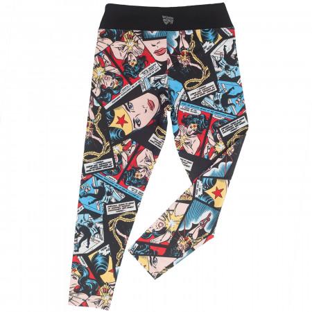 Wonder Woman Face of Justice Cropped Yoga Leggings