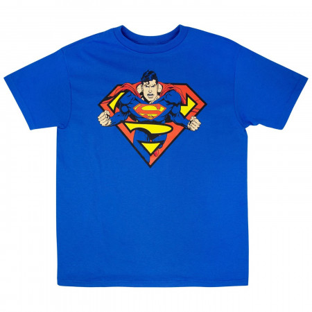 Superman In Shield T-Shirt
