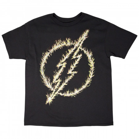 DC COMICS FLASH GLOW LOGO TEE