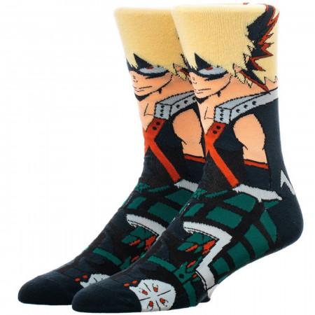 My Hero Academia Bakugo 360 Character Crew Socks