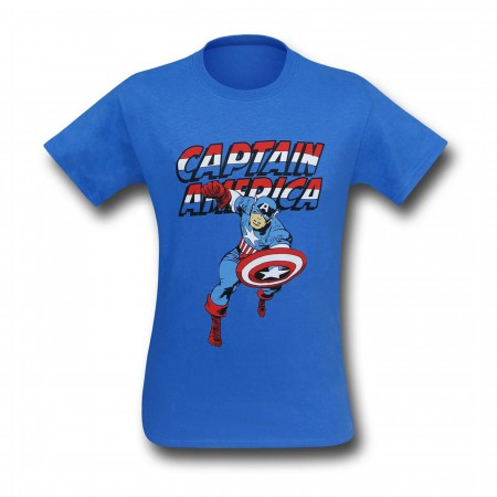 Captain America Jack Kirby Running T-Shirt