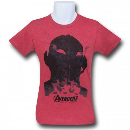 Avengers Age of Ultron Shadow 30 Single T-Shirt