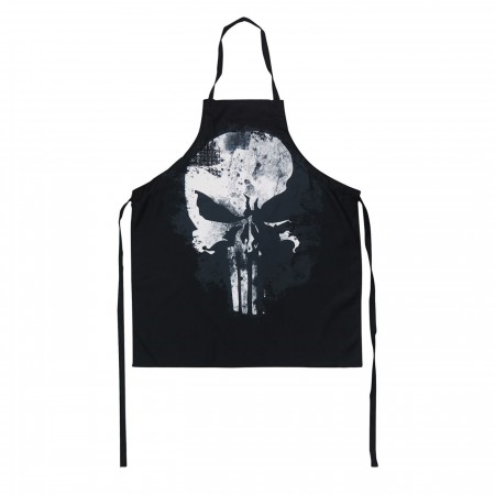 Punisher Distressed Skull Cooking Apron