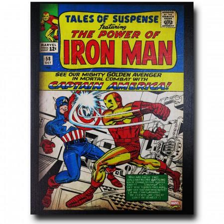 Iron Man Vs Captain America Artwork Canvas
