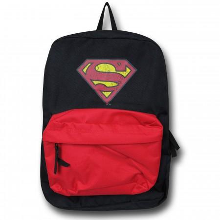 Superman Distressed Symbol Backpack