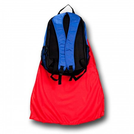 Superman Kids Backpack With Cape