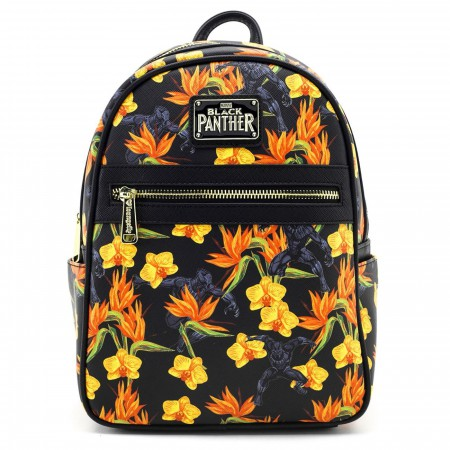Black Panther Floral Mini Backpack