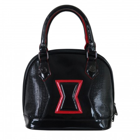 Black Widow Symbol Loungefly Patent Leather Handbag