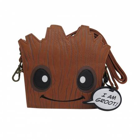 GOTG Groot Loungefly Crossbody Handbag with Charm