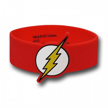 Flash C&D Molded Rubber Wristband