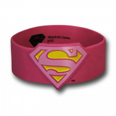 Supergirl Symbol Molded Rubber Wristband