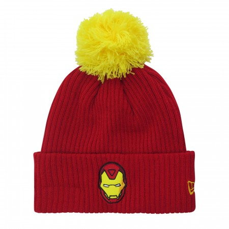 Iron Man Helmet Head Pom Pom Beanie