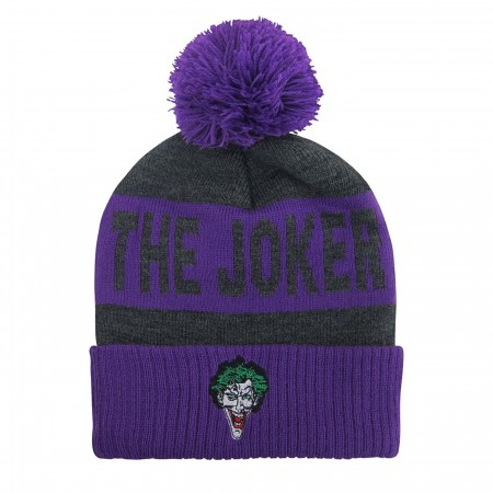 The Joker Classic Pom Pom Beanie