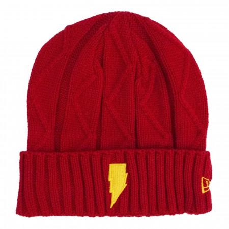 Shazam Symbol Lightning Weave Unisex Knit Beanie