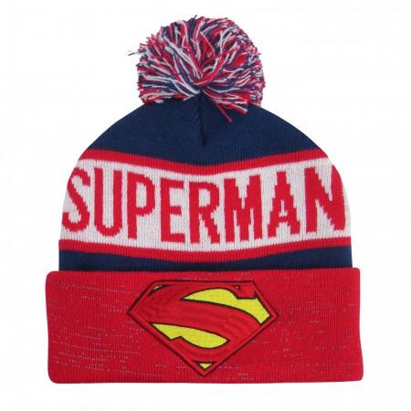 Superman Symbol Reflective Cuff Beanie