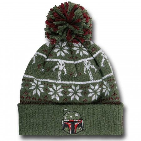 Star Wars Boba Fett Knit Pom Pom Beanie
