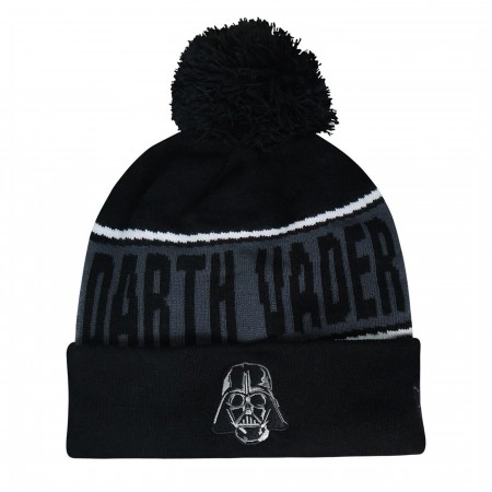 Star Wars Darth Vader Fleece Lined Pom Pom Beanie
