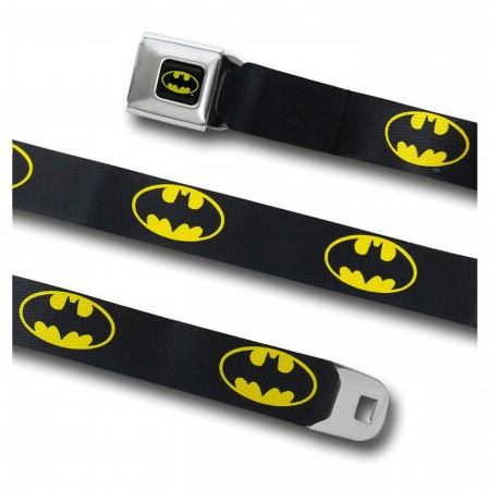 Batman Symbol Webbed Seatbelt Belt