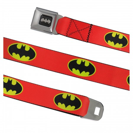 Batman Symbol Orange Seatbelt Belt