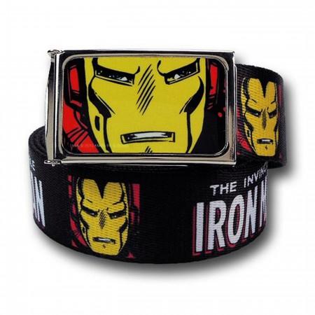 Iron Man Visages and Logo Web Belt