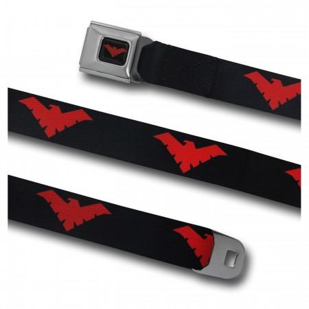 Nightwing Red Symbol Seatbelt Belt