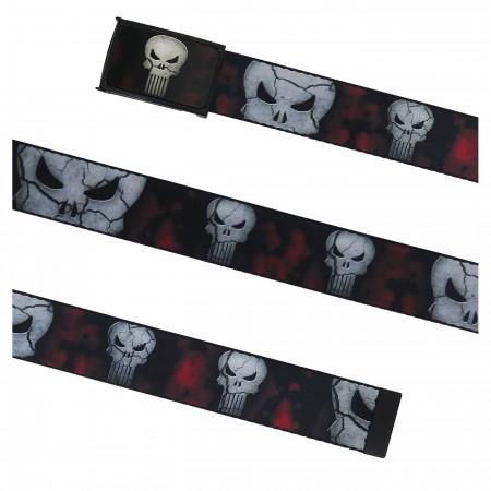 Punisher Cracked Skulls Web Belt