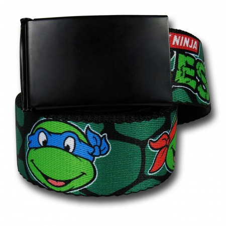 TMNT Heads Shell Print Web Belt