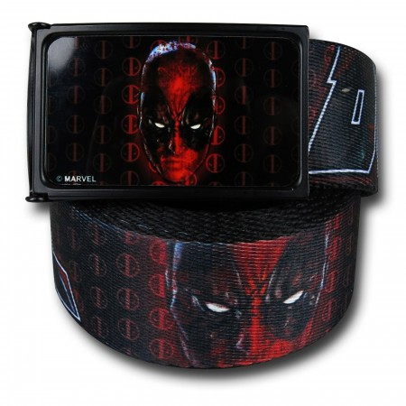 Deadpool Headshot and Logo Web Belt