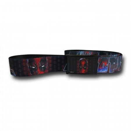Deadpool Headshot and Logo Web Belt