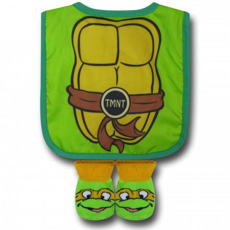 TMNT Infant Caped Bib & Sock Set}