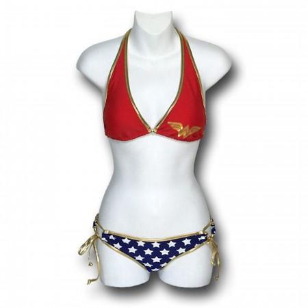 Wonder Woman Halter Top Bikini Set