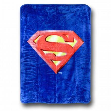 Superman Symbol Queen Blanket