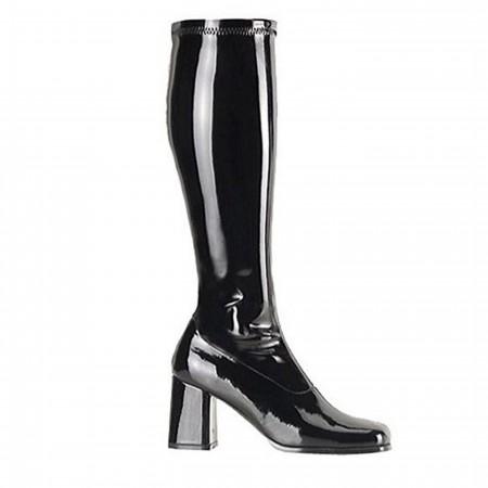 Hero Black GO GO Boots 3 Inch Heel