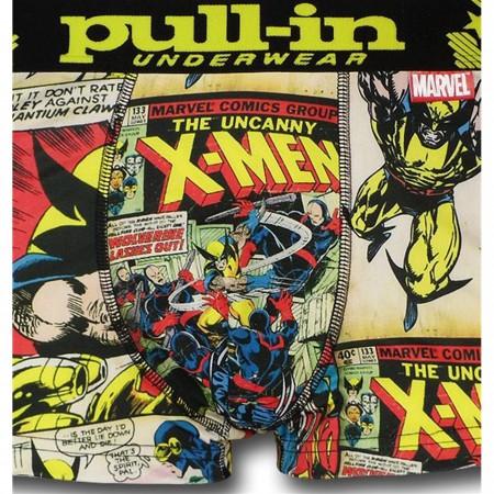 X-Men & Wolverine Mens Pull-In Boxer Briefs