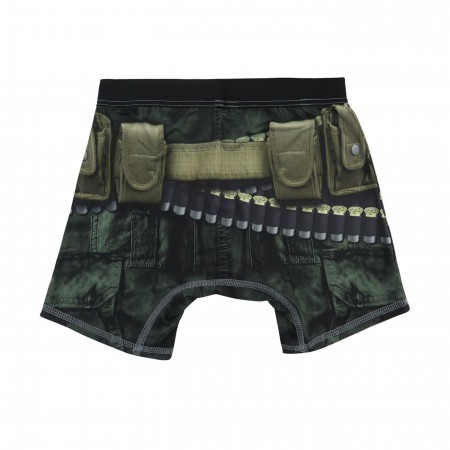 Punisher Armed Poly/Spandex Men's Boxer Briefs