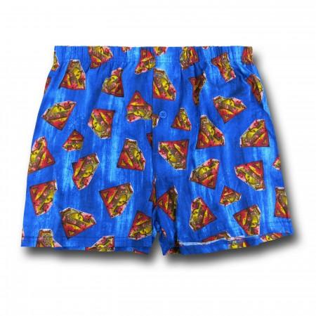 Superman Symbol Swarm Boxer Shorts