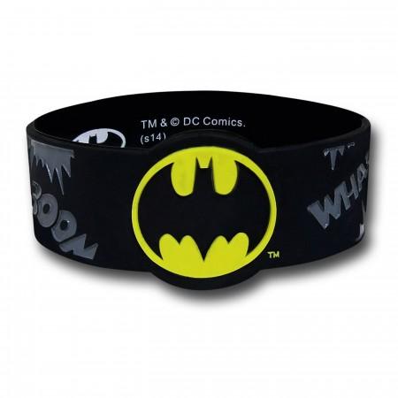 Batman Wrap Around Rubber Wristband