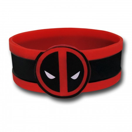 Deadpool Symbol Rubber Wristband
