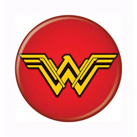Wonder Woman Movie Symbol Red Button