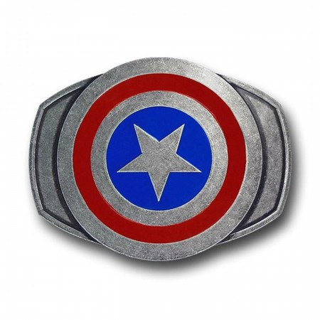 Captain America Pewter Shield Belt Buckle