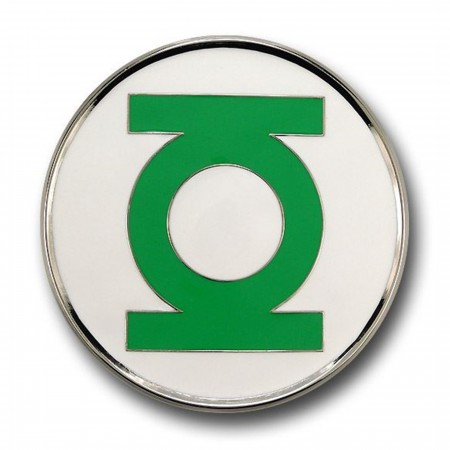Green Lantern Belt Buckle Silver Edge