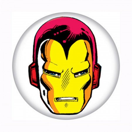 Iron Man Head Button