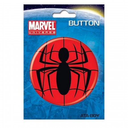 Spiderman Symbol 3 Inch Button