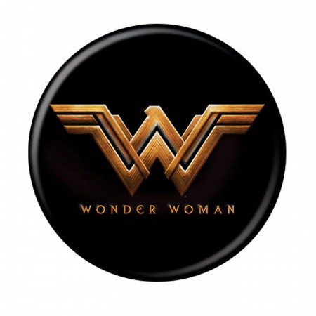 Wonder Woman Movie Logo Black Button