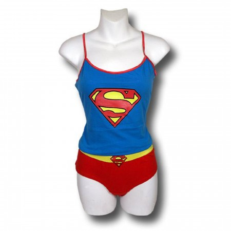 Supergirl Classic Symbol Cami and Panty Set